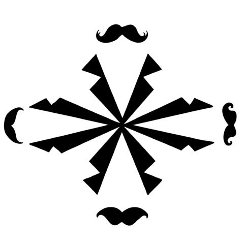 affiche cuir moustache